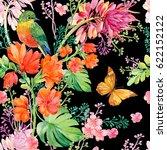 seamless pattern.watercolor... | Shutterstock . vector #622152122