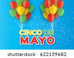 origami happy cinco de mayo... | Shutterstock .eps vector #622159682