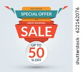 seasonal sale and special offer ... | Shutterstock .eps vector #622162076