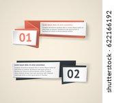 vector infographic origami... | Shutterstock .eps vector #622166192