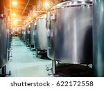 modern beer factory. rows of... | Shutterstock . vector #622172558