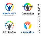 set of vector logos. men... | Shutterstock .eps vector #622174325