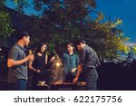 dinner party  barbecue and... | Shutterstock . vector #622175756