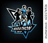 running marathon  emblem  logo...   Shutterstock .eps vector #622176926