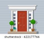 front classic door  porch with... | Shutterstock .eps vector #622177766