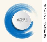 brush color watercolor round... | Shutterstock .eps vector #622179746