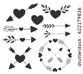 heart and arrows. vector.... | Shutterstock .eps vector #622179836