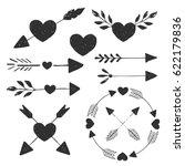 Heart And Arrows. Vector....