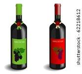 Vector Illustration Of 2 Wine...