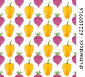 pattern made of cute yellow... | Shutterstock . vector #622189916