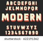 geometric font modern design... | Shutterstock .eps vector #622191362