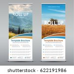 template universal roll up... | Shutterstock .eps vector #622191986