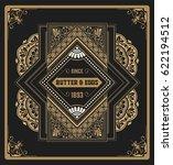 premium quality card. baroque... | Shutterstock .eps vector #622194512