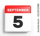 September 5. Calendar On White...