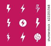 lightning bolts  warning vector ... | Shutterstock .eps vector #622201568