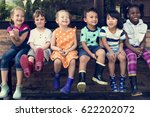 group of kindergarten kids... | Shutterstock . vector #622202072