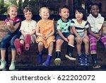 group of kindergarten kids... | Shutterstock . vector #622202072