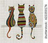 Embroidery Cats.  Zentangle...