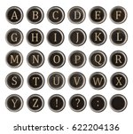 Set Of Old Typewriter Keys Wit...