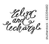 hand lettering positive... | Shutterstock .eps vector #622204682