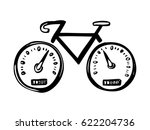 hand drawn concept icon with... | Shutterstock .eps vector #622204736