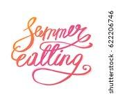 summer lettering design   hand... | Shutterstock .eps vector #622206746
