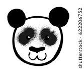 cartoon black and white panda... | Shutterstock .eps vector #622206752