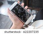 the broken of smart mobile...   Shutterstock . vector #622207235