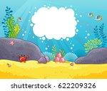 sea background. vector... | Shutterstock .eps vector #622209326
