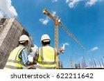 construction engineers... | Shutterstock . vector #622211642