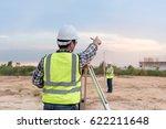 surveyor equipment. surveyor s... | Shutterstock . vector #622211648