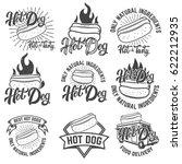 hot dog labels. handwritten... | Shutterstock .eps vector #622212935