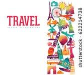 world skyline. travel and... | Shutterstock .eps vector #622214738