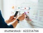 web designer planning... | Shutterstock . vector #622216766