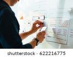 web designer prototyping... | Shutterstock . vector #622216775