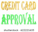 3d rendering. gold text credit...   Shutterstock . vector #622221635