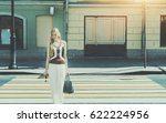 smiling tall beautiful adult... | Shutterstock . vector #622224956
