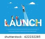 startup launch illustration of... | Shutterstock . vector #622232285