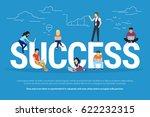 success concept illustration of ...   Shutterstock . vector #622232315