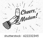 cheers madam. male human hand... | Shutterstock . vector #622232345
