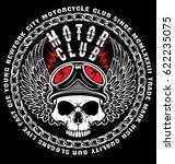 vintage skull t shirt graphic... | Shutterstock .eps vector #622235075
