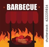 barbecue beef in grill | Shutterstock .eps vector #622235816