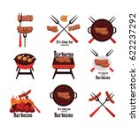 barbecue icons | Shutterstock .eps vector #622237292