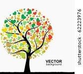 abstract heart tree | Shutterstock .eps vector #62223976