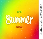 summer. now. modern iridescent... | Shutterstock .eps vector #622240082