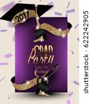 graduation 2017 banner with... | Shutterstock .eps vector #622242905