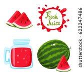 vector set of natural fresh...   Shutterstock .eps vector #622247486