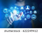 concept view of multimedia icon ... | Shutterstock . vector #622249412