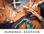 genuine leather craft object... | Shutterstock . vector #622251146