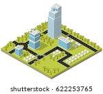 landscape city in isometric map ... | Shutterstock .eps vector #622253765